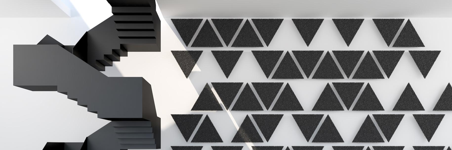 Akustyczne panele ścienne Ferro Triangle