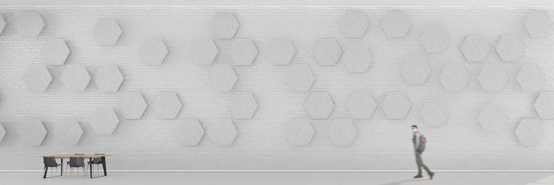 Akustyczne panele ścienne Ferro Hexagon