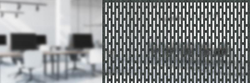 Akustyczne panele ażurowe Moira Screen N Rectangular