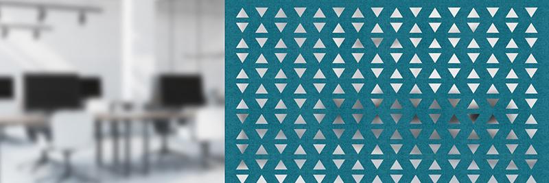 Akustyczne panele ażurowe Moira Screen N Triangle Shadow