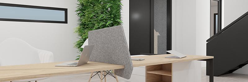 Akustyczne ścianki biurowe GUSTO - Horizontal Shape