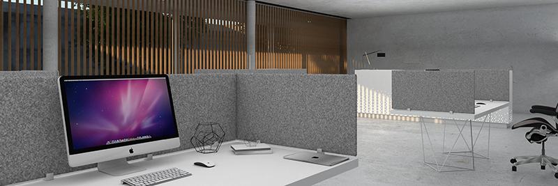 Akustyczne ścianki biurowe GUSTO - Horizontal